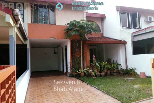 For Rent Terrace at Section 8, Shah Alam Freehold Semi Furnished 3R/4B 1.8k