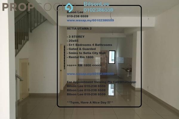 For Rent Terrace at Alam Nusantara, Setia Alam Freehold Unfurnished 5R/4B 1.8k