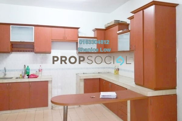 For Rent Apartment at Sri Mekar Apartment, Bandar Puchong Jaya Freehold Semi Furnished 3R/2B 1.2k