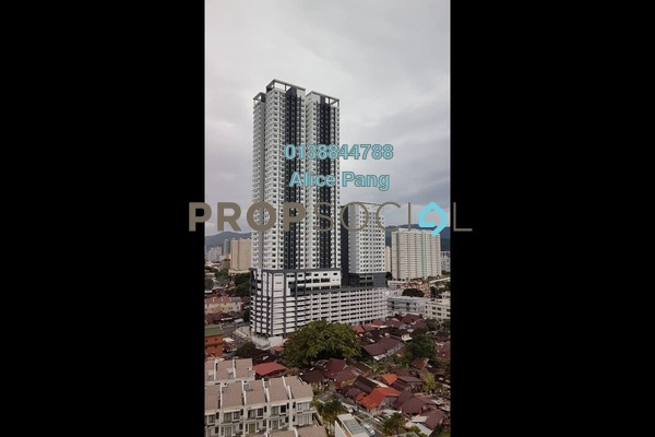 For Rent Condominium at Skyview Residence, Jelutong Freehold Unfurnished 3R/1B 1k