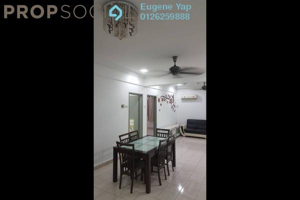 For Rent Apartment at Taman Usahawan, Kepong Freehold Semi Furnished 3R/2B 1.2k
