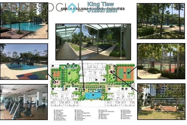 For Rent Condominium at Amaya Saujana, Saujana Freehold Fully Furnished 3R/3B 3.3k