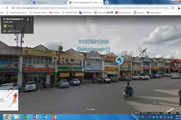 For Rent Shop at Taman Universiti, Skudai Freehold Unfurnished 0R/2B 4.5k