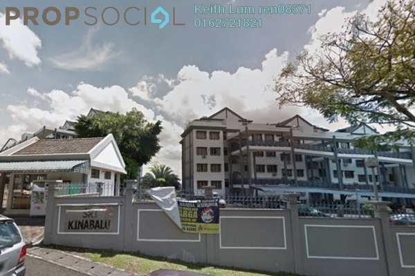 For Rent Apartment at Sri Kinabalu, Wangsa Maju Freehold Semi Furnished 3R/2B 1.4k