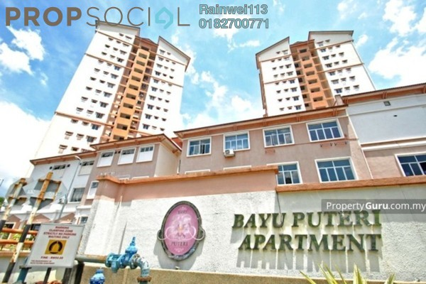 For Rent Apartment at Bayu Puteri, Tropicana Freehold Unfurnished 3R/2B 1.2k