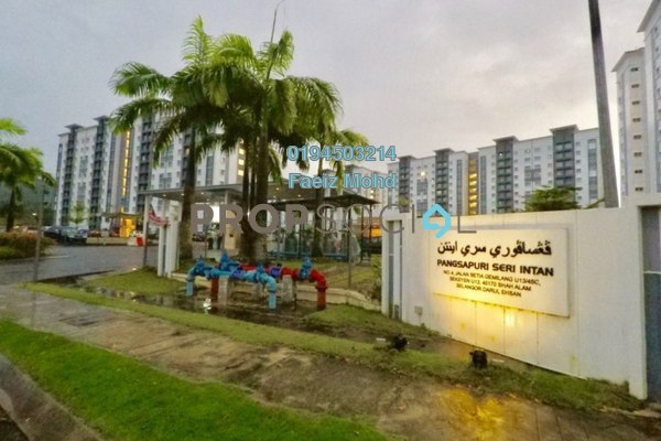 For Sale Apartment at Seri Intan Apartment, Setia Alam Freehold Unfurnished 3R/2B 310k