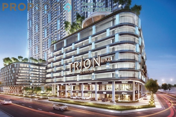 For Sale Serviced Residence at Trion @ KL, Kuala Lumpur Freehold Semi Furnished 2R/1B 470k