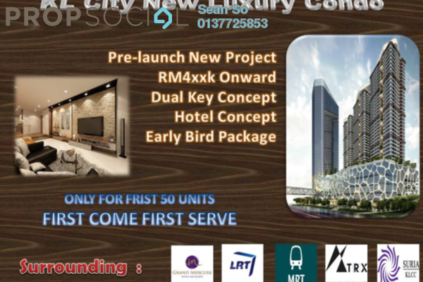 For Sale Serviced Residence at Trion @ KL, Kuala Lumpur Freehold Semi Furnished 2R/1B 473k