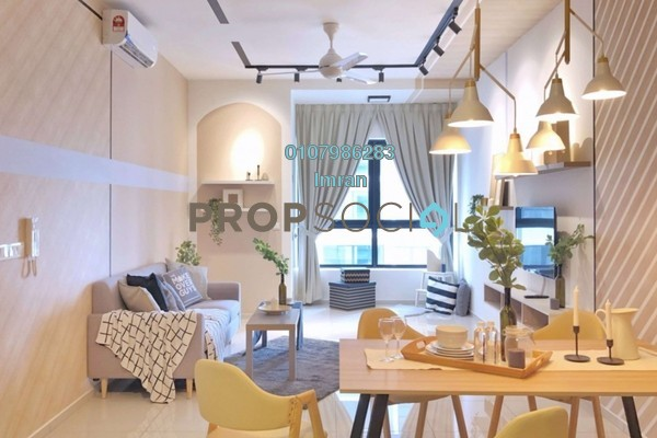 For Rent Serviced Residence at D'Sara Sentral, Sungai Buloh Freehold Fully Furnished 2R/1B 2k