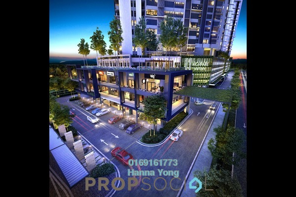 For Sale Serviced Residence at HighPark Suites, Kelana Jaya Freehold Semi Furnished 1R/1B 489k