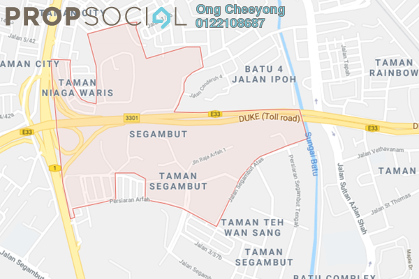 For Sale Land at Taman SPPK, Segambut Freehold Unfurnished 0R/0B 25.6m