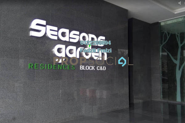 For Rent Condominium at Seasons Garden Residences, Wangsa Maju Freehold Fully Furnished 3R/2B 1.65k