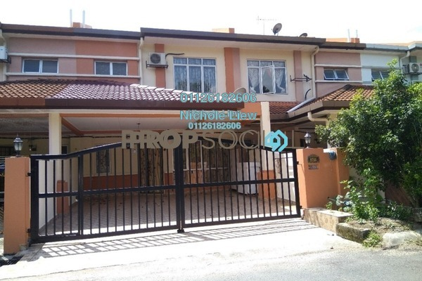For Sale Terrace at Taman Pinggiran Mahkota, Bandar Mahkota Cheras Leasehold Semi Furnished 4R/3B 528k
