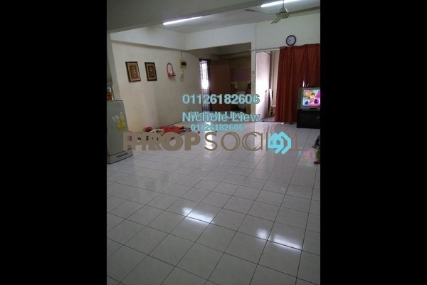 For Sale Apartment at Taman Orkid, Batu 9 Cheras Freehold Semi Furnished 3R/2B 250k