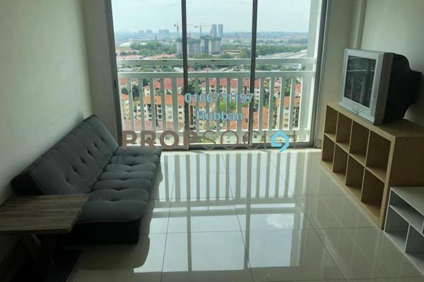 For Rent Condominium at Hijauan Puteri, Bandar Puteri Puchong Freehold Fully Furnished 3R/2B 1.3k