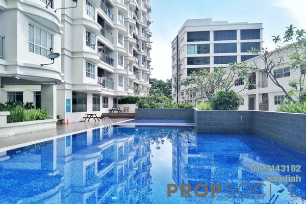 For Sale Serviced Residence at Suri Puteri, Shah Alam Freehold Semi Furnished 3R/2B 420k