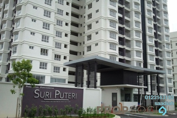 For Sale Serviced Residence at Suri Puteri, Shah Alam Freehold Semi Furnished 3R/2B 430k