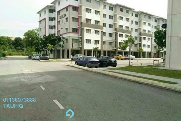 For Rent Condominium at Seroja Apartment, Setia Alam Freehold Unfurnished 3R/2B 700translationmissing:en.pricing.unit