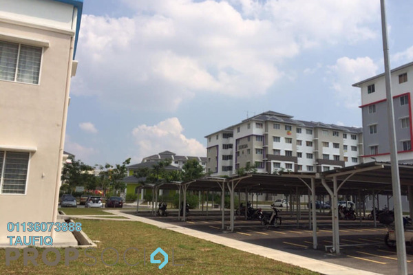 For Sale Apartment at Seroja Apartment, Setia Alam Freehold Unfurnished 3R/2B 185k