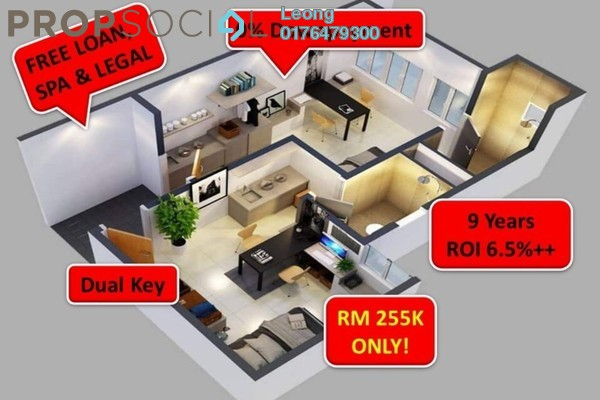 For Sale SoHo/Studio at Broga, Semenyih Freehold Fully Furnished 2R/2B 255k