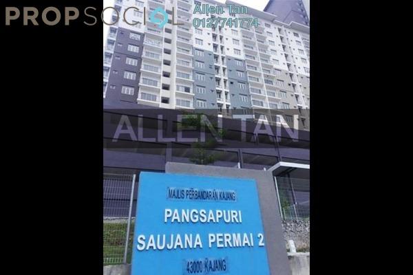 For Sale Apartment at Saujana Permai Apartment 2, Kajang Freehold Semi Furnished 3R/2B 300k