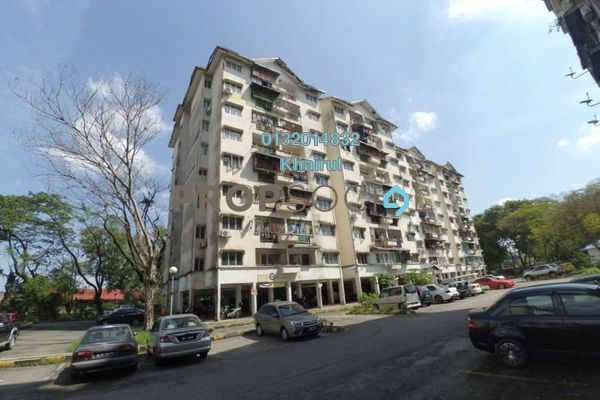 For Sale Apartment at Taman Bunga Negara, Shah Alam Freehold Unfurnished 3R/2B 200k
