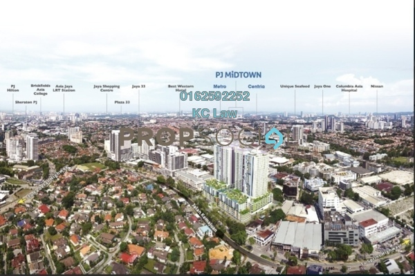 For Rent Serviced Residence at PJ Midtown, Petaling Jaya Freehold Semi Furnished 2R/2B 2.3Ribu