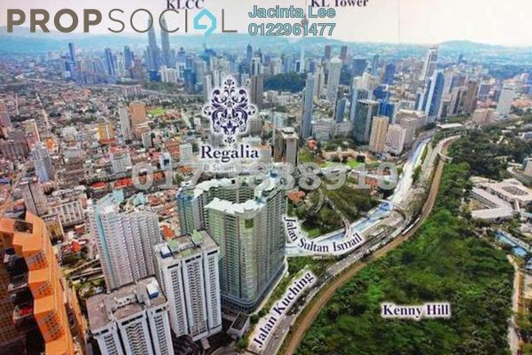 For Sale Serviced Residence at Regalia @ Jalan Sultan Ismail, Kuala Lumpur Freehold Semi Furnished 0R/1B 382k