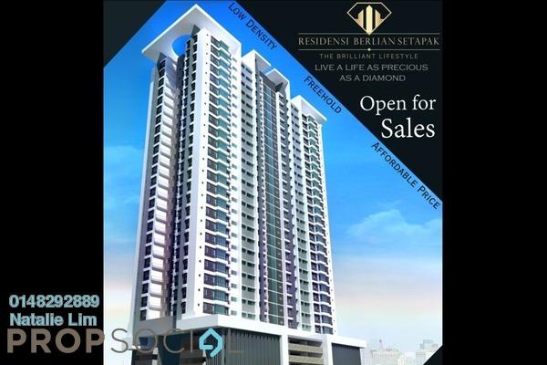 For Sale Condominium at Residensi Berlian, Setapak Freehold Unfurnished 3R/2B 425k