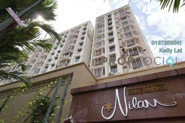 For Sale Apartment at Nilam Apartment, Segambut Freehold Semi Furnished 3R/2B 375k