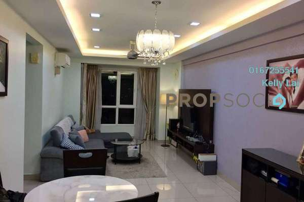 For Rent Condominium at First Residence, Kepong Freehold Semi Furnished 3R/2B 1.9k