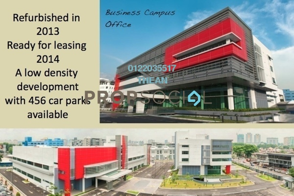 For Rent Office at Axis Business Campus, Petaling Jaya Freehold Semi Furnished 0R/0B 60k