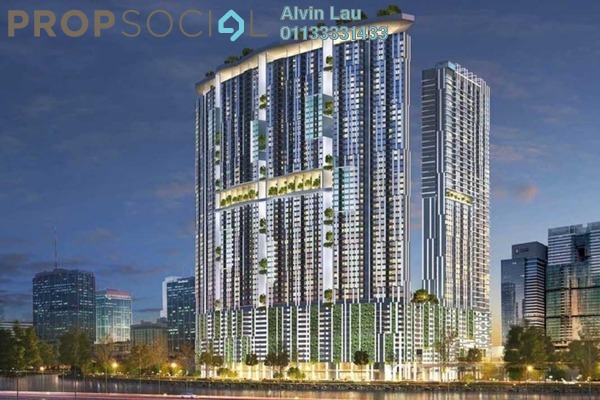 For Sale Serviced Residence at Riveria City, Brickfields Leasehold Fully Furnished 2R/2B 535k