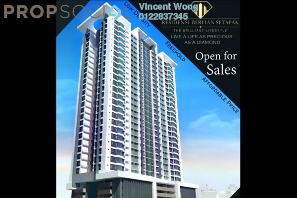 For Sale Condominium at Residensi Berlian, Setapak Freehold Semi Furnished 3R/2B 486k