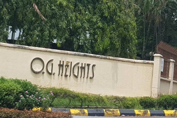For Sale Condominium at OG Heights, Old Klang Road Freehold Semi Furnished 2R/2B 375k