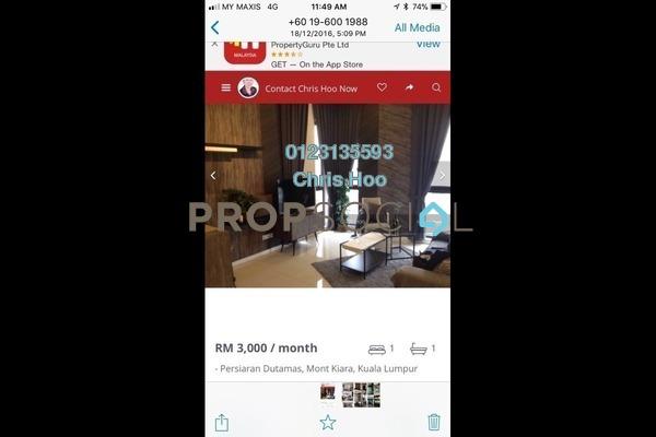 For Rent Condominium at Icon Residence (Mont Kiara), Dutamas Freehold Fully Furnished 1R/1B 2.8k