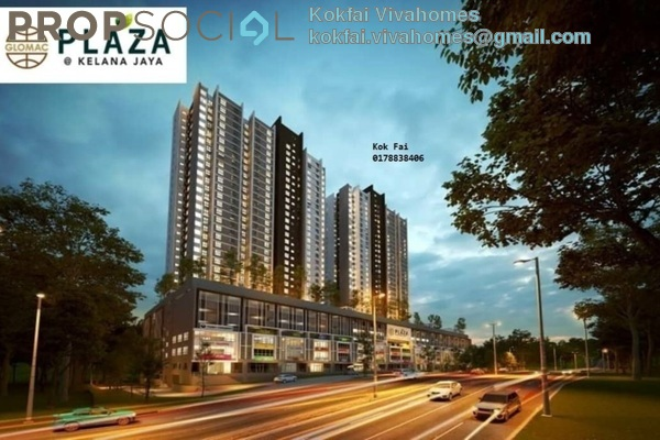 For Sale Serviced Residence at Plaza Kelana Jaya, Kelana Jaya Freehold Unfurnished 3R/2B 560k