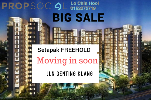 For Sale Condominium at 222 Residency, Setapak Freehold Unfurnished 3R/2B 380k