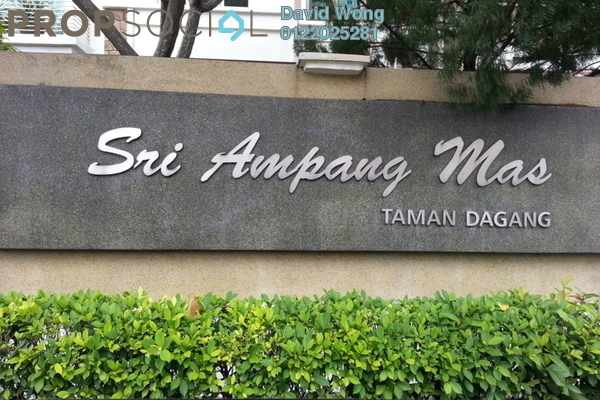 For Sale Condominium at Sri Ampang Mas, Ampang Freehold Fully Furnished 4R/2B 430k