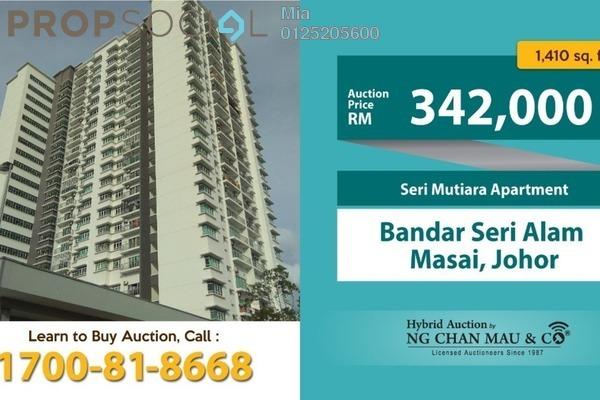 For Sale Apartment at Opal Residenz, Bandar Seri Alam Freehold Unfurnished 0R/0B 342k