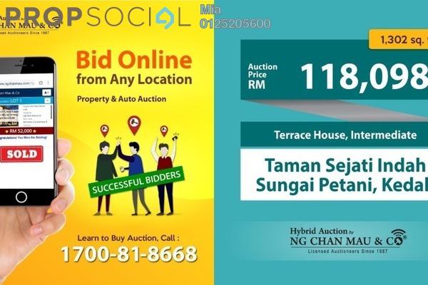 For Sale Terrace at Taman Sejati Indah, Sungai Petani Freehold Unfurnished 0R/0B 118k