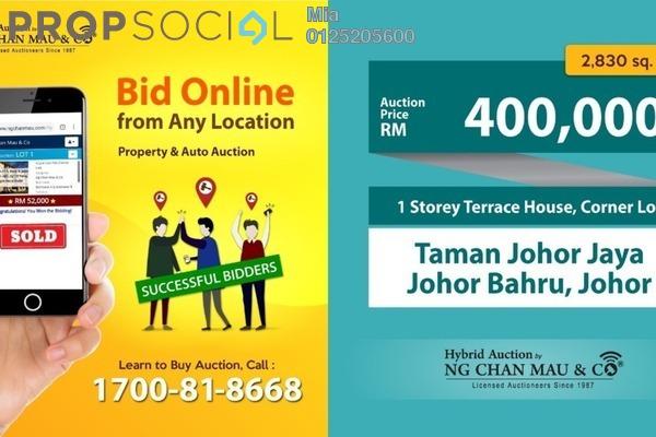 For Sale Terrace at Taman Johor Jaya, Johor Bahru Freehold Unfurnished 0R/0B 400k