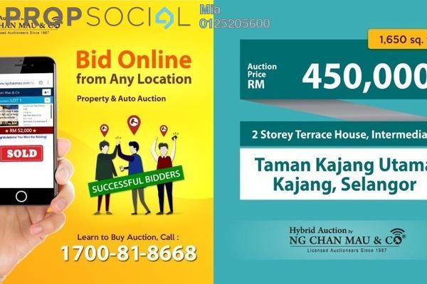 For Sale Terrace at Taman Kajang Utama, Kajang Freehold Unfurnished 0R/0B 450k