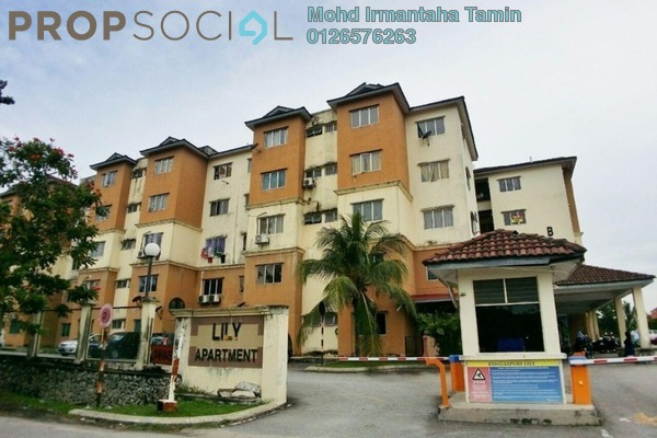 For Sale Apartment at Lily Apartment, Sungai Buloh Leasehold Semi Furnished 3R/2B 200k