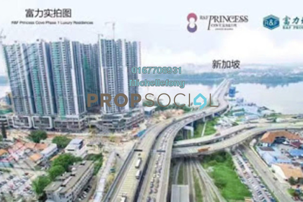 For Sale Serviced Residence at R&F Princess Cove, Johor Bahru Freehold Semi Furnished 4R/3B 1.34m