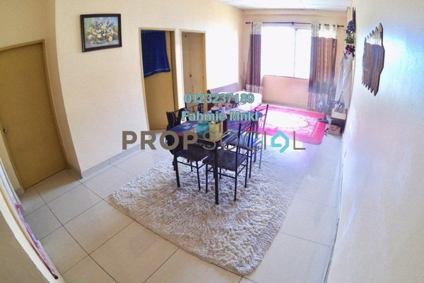 For Sale Apartment at Selayang Heights Apartment, Selayang Heights Leasehold Semi Furnished 3R/2B 200k