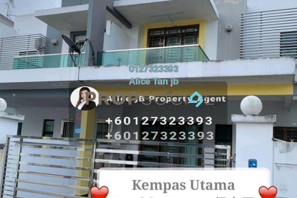 For Sale Terrace at Taman Kempas Utama, Johor Bahru Freehold Semi Furnished 4R/3B 600k