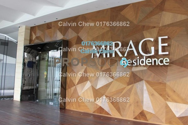 For Sale Condominium at Mirage Residence, KLCC Freehold Unfurnished 3R/0B 1.2m