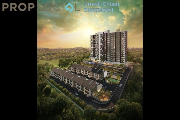 For Sale Condominium at Resilion Residence, Bandar Mahkota Cheras Freehold Semi Furnished 3R/2B 485k