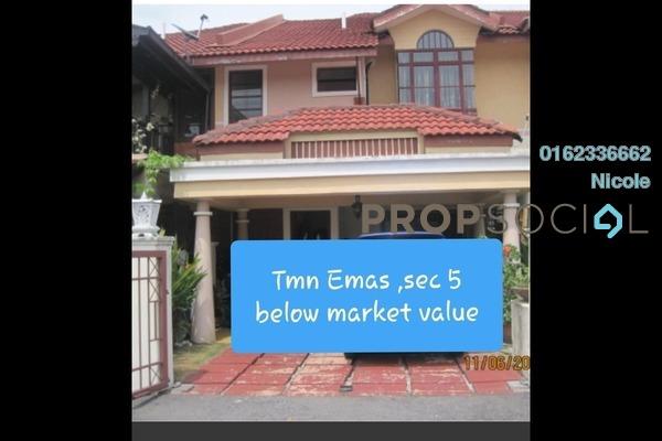 For Sale Terrace at Damansara Emas, Kota Damansara Freehold Semi Furnished 5R/3B 815k